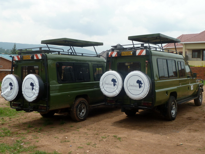 Our Land Cruisers in Travel Mode
