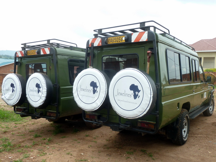 Our Land Cruisers in Safari Mode