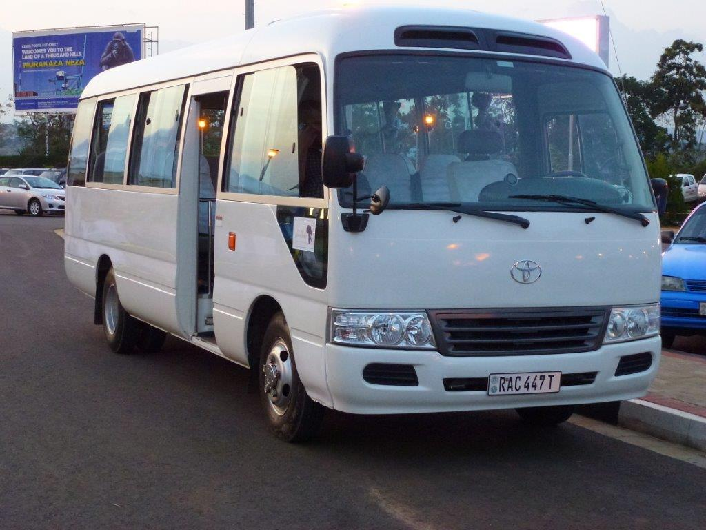 Jewelines Bus at the Kigali Airport